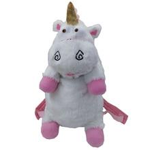 50 cm Despicable Me Unicornio Bolsa de Unicornios Mochila de Juguetes de Peluche Para Niños Niñas de Regalo de Cumpleaños Lindo Mochilas BB0059