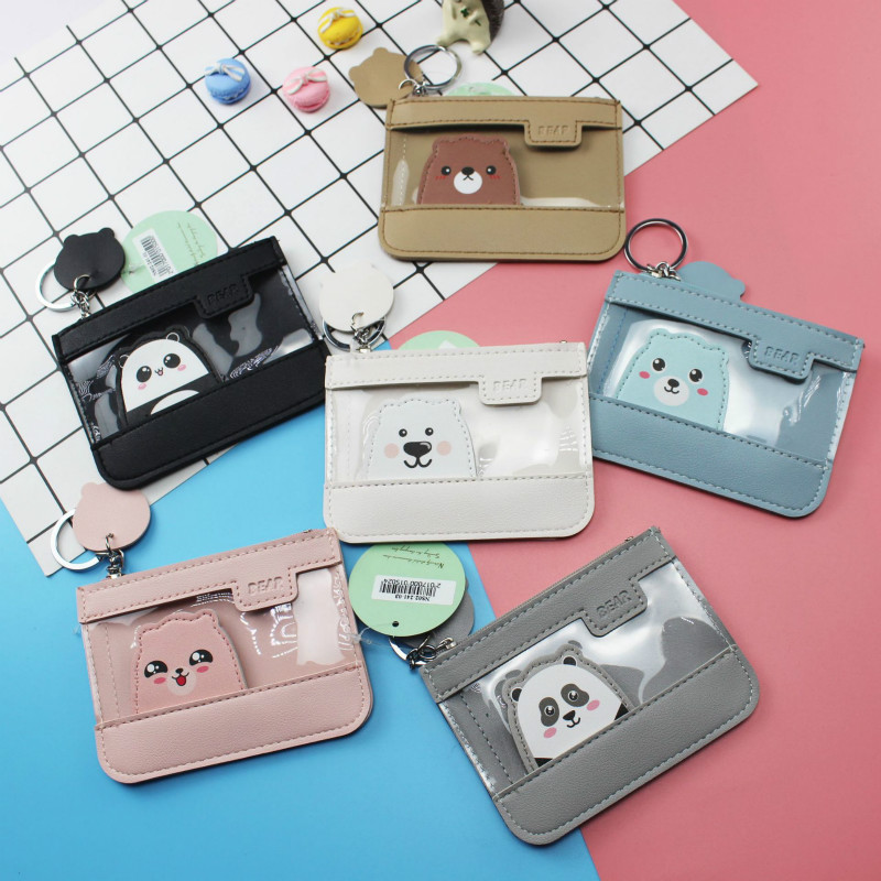 PACGOTH 2018 New Korean Style Cartoon Printing PU Leather Card Holders Kawaii Creative Animal Prints Panda Coin Card Wallets 1PC