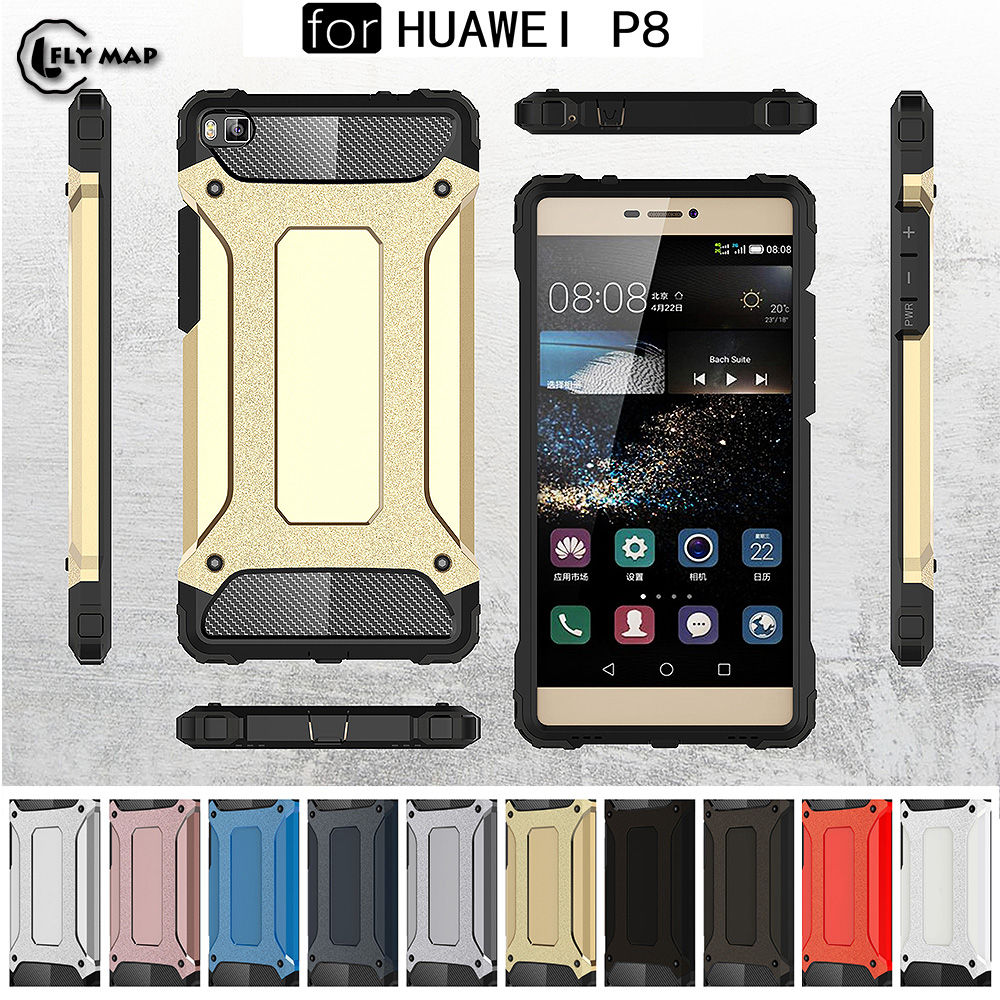 PC Armor TPU Case for Huawei P8 LTE GRA-L09 Silicon Anti-Shock Hard Protection phone Cover for Huawei P 8 GRA-UL10 GRA-UL00 Case