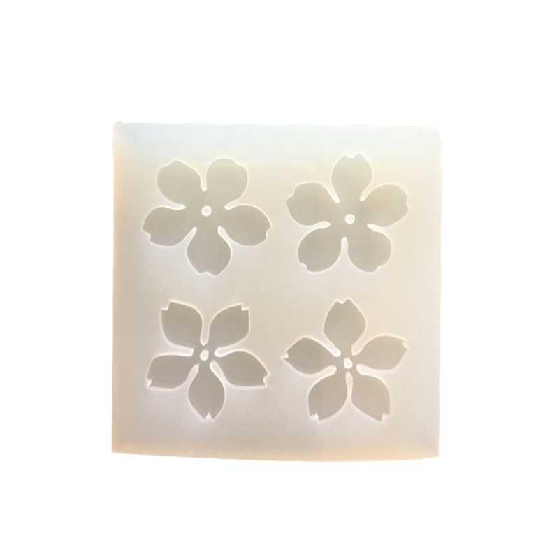 1 Pc Sakura Cherry Blossoms Liquid Silicone Mold DIY Resin Jewelry Mold For Epoxy Resin UV Resin Mold Freeshipping