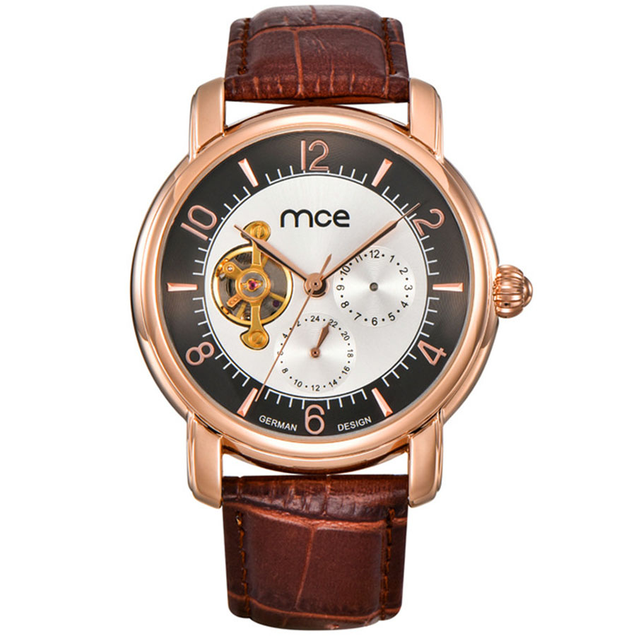 MCE Rose Gold Case Mens Watches Top Brand Luxury Automatic Watch Montre Homme Tourbillon Mechanical Clock Men Casual Watch forsining date month display rose golden case mens watches top brand luxury automatic watch clock men casual fashion clock watch