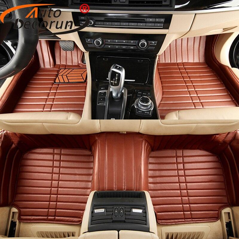 AutoDecorun Custom Fit PVC Leather Car Floor Mats for Volkswagen Beetle Touareg Tiguan Scirocco Multivan Sharan Golf UP Car Mats
