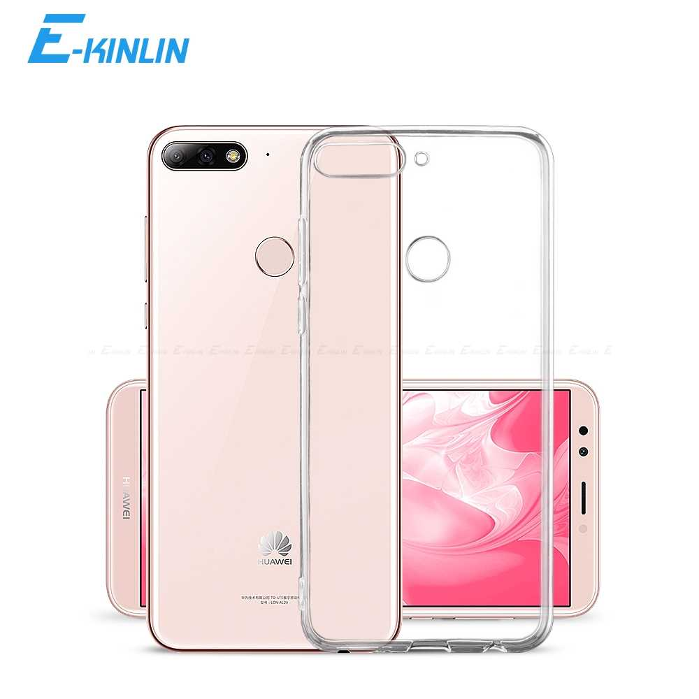 Clear Silicone Back Full Cover For HuaWei Y9 Y7 Y6 Y5 Y3 II 2 3 Compact Prime Pro Lite 2019 2018 GR5 2017 UltraThin TPU Case