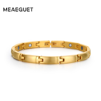 Women Bracelets Fashion Gold Plated Stainless Steel Watch Bracelet For Christams Gift BR 077