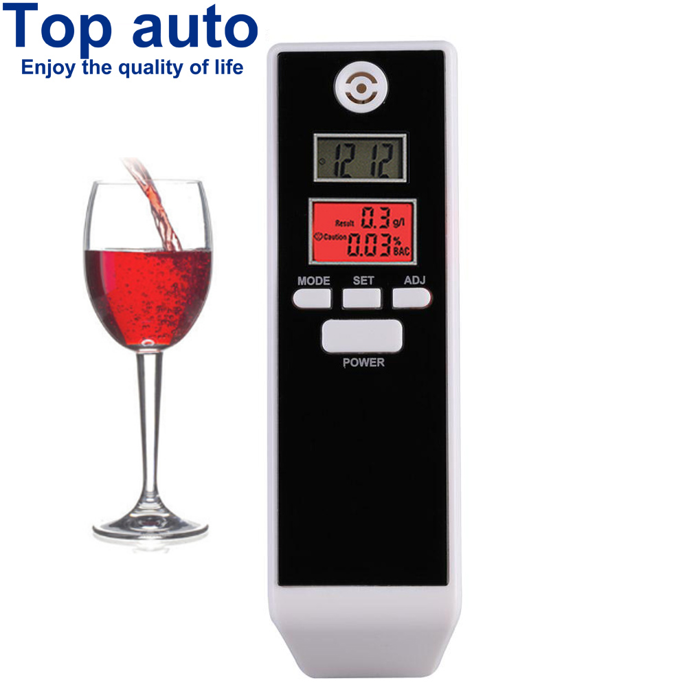 LCD Digital Breathalyzer Prefessional Breath Alcohol Tester Parking Detector Gadget with Backlight Driving Essentials PFT-661S