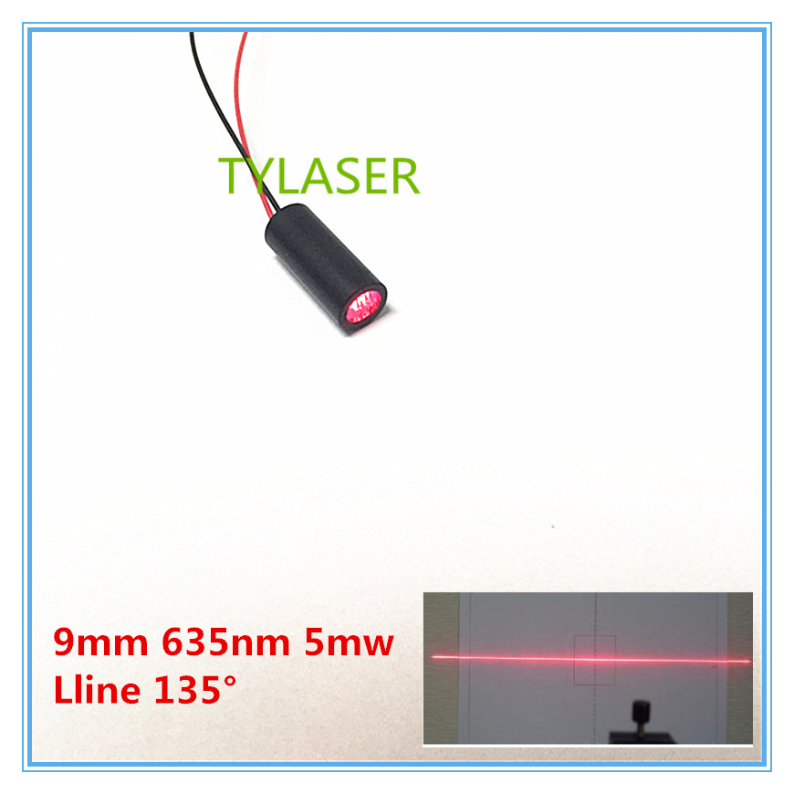 9mm 635nm 5mW 135 Degree Red Line Laser Module Industrial Grade APC Driver TYLASERS