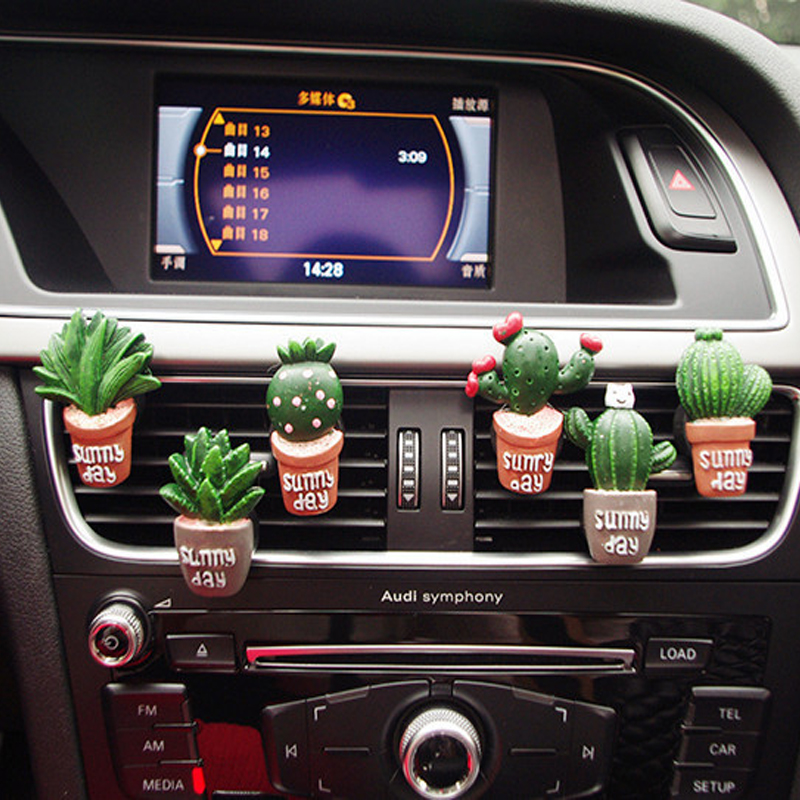 Image 3 - Car Air Conditioning Vent Perfume Clip Resin Cactus Creative Cute Air Freshener Fragrance Clip Solid Balm Decoration Ornaments-in Ornaments from Automobiles & Motorcycles