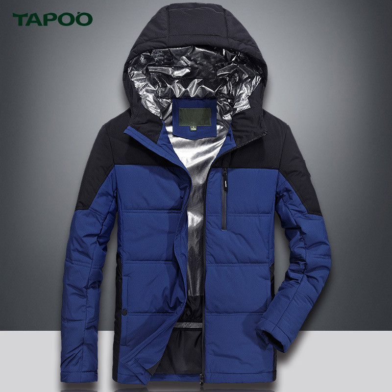 TAPOO Warm Mens Parkas Jacket Waterproof Windproof Casual Outerwear Warm Winnter Coat Me ...