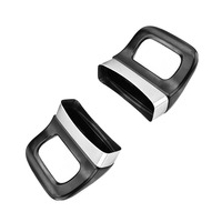 2 pçs fácil instalar pote alça desmontável buraco duplo curto baquelite grip pan anti escaldante cozinha ferramenta acessórios preto