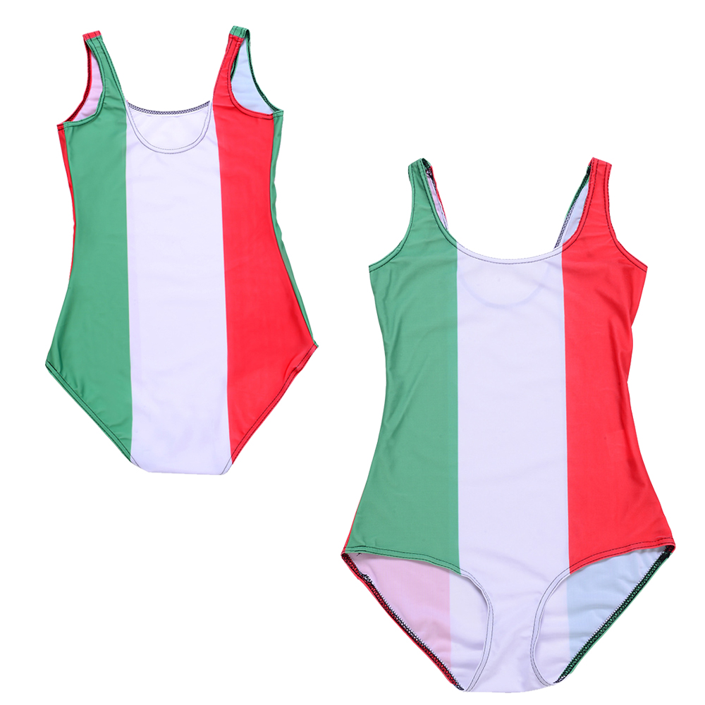 Flag Of Italy One Piece Swimsuit Red White Green Stripes