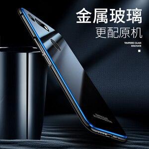 Image 2 - アルミニウム金属フレームケース Huawei 社の名誉 V20 ケース View20 強化ガラス裏表紙 Huawei 社の名誉 V20 金属バンパーケース
