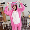 Conjuntos de Pijama de Outono e Inverno Dos Desenhos Animados do dia das bruxas Mulheres Sleepwear Pijama de Flanela Animais Ponto Pijama Panda Unicórnio Queridos