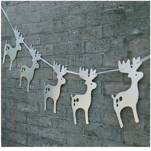 Deer Shaped Banner