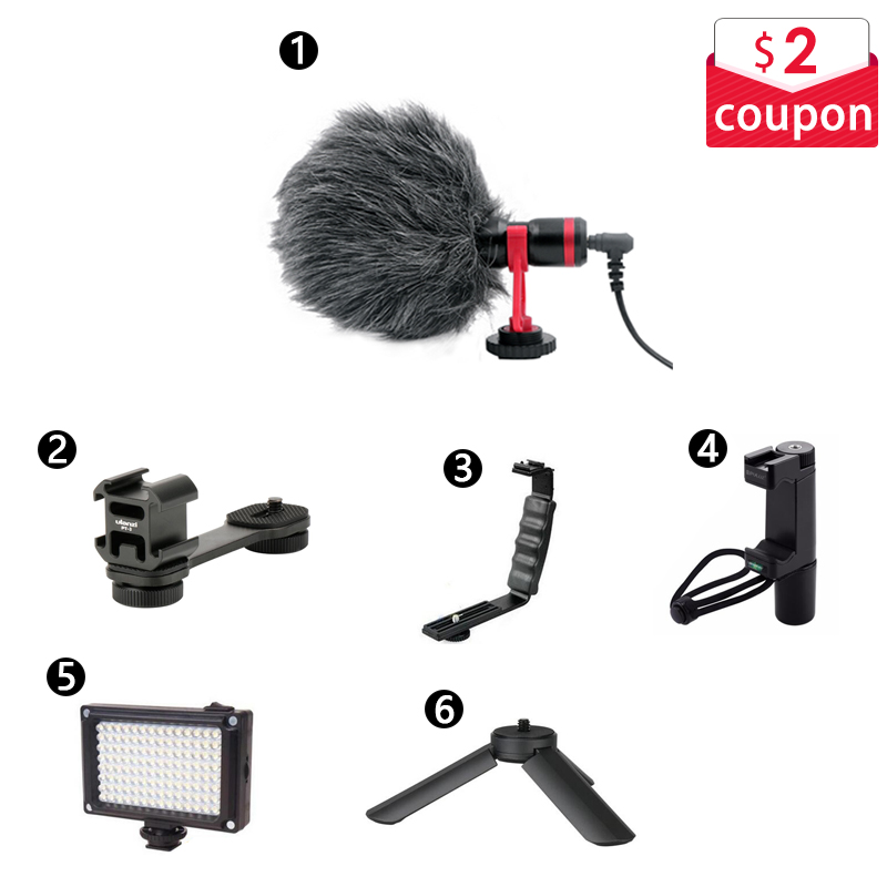 DSLR MIC Video Microphone Youtube Vlogging Recording Mic for iPhone HuaWei DJI Osmo Mobile 3 2 ZHIYUN Smooth 4 Q Canon Sony DSLR