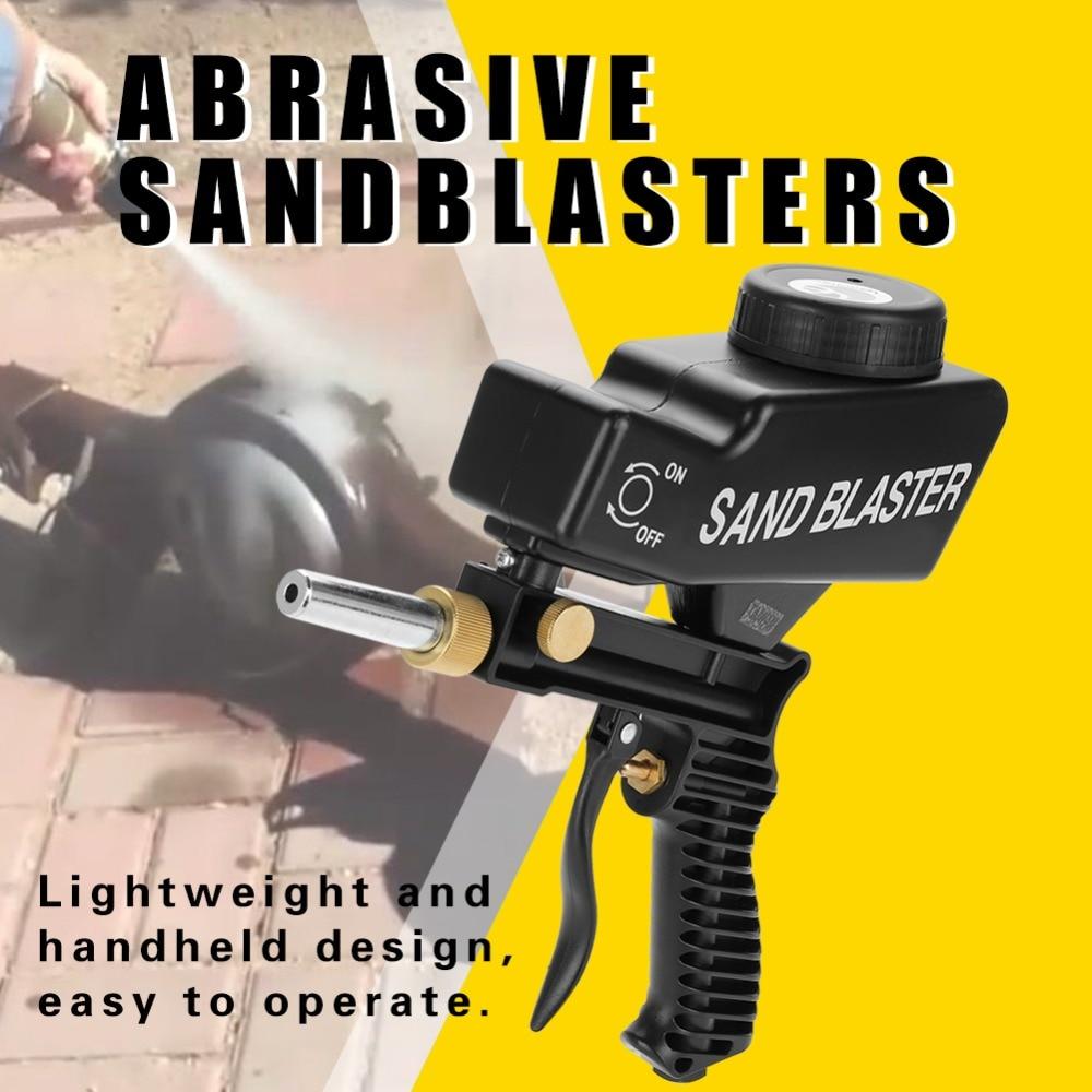 Gravity Feed Portable Spray Paint Care Aerosol Spray Gun Pneumatic Abrasive Sandblasters Sandblasting Gun for Removing