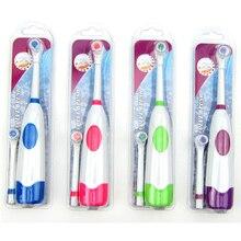 1 brosse à dents électrique avec 2 têtes de brosse hygiène buccale à piles pas de brosse à dents Rechargeable pour les enfants