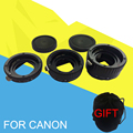 Plastic Mount Auto Focus AF Macro Extension Tube Ring For Canon Lens EF G10 G11 G12 1100D 700D 650D 550D 400D 7D 6D 5D Series
