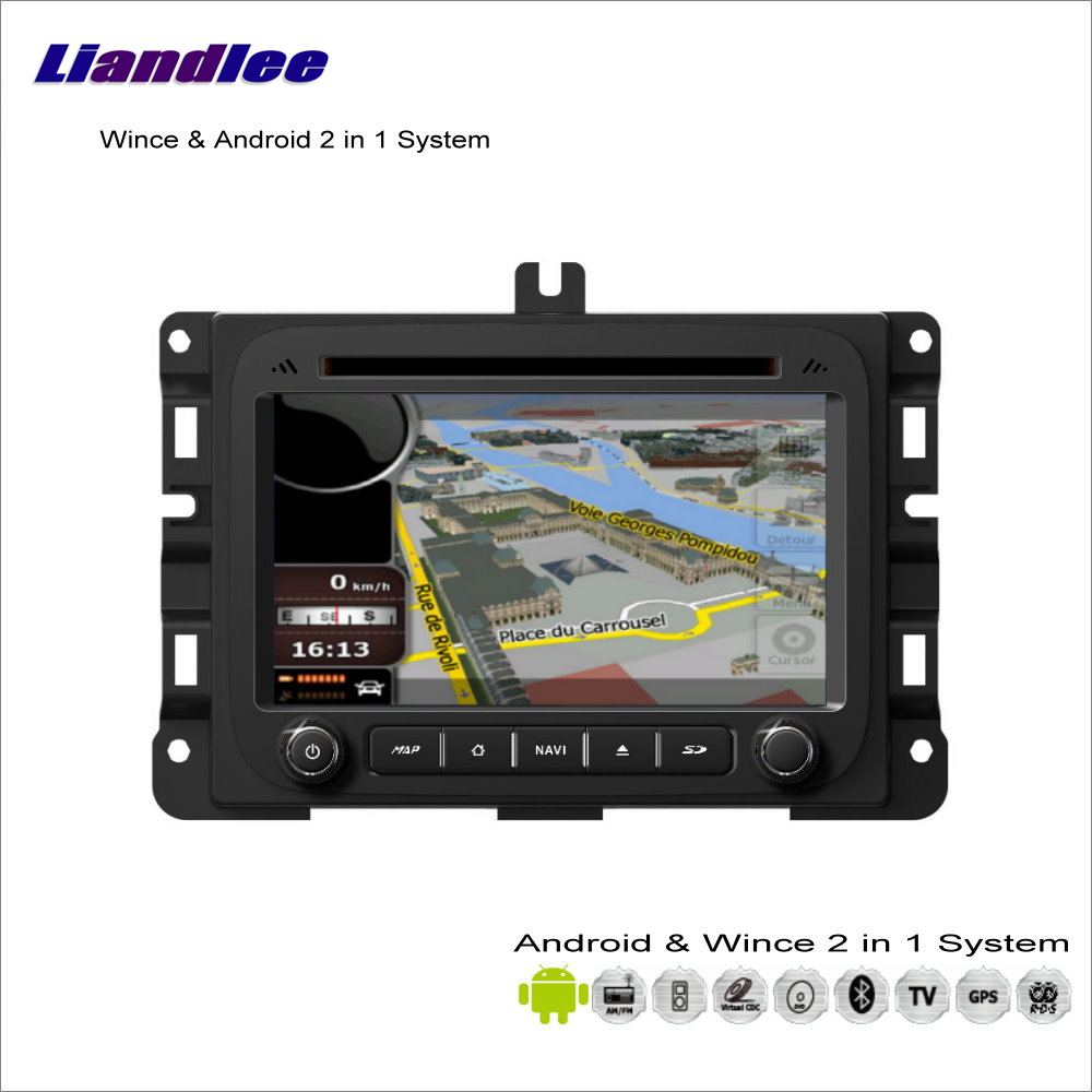 Liandlee For Dodge RAM 2013~2014 Car Radio CD DVD Player GPS Nav Navi Map Navigation Advanced Wince & Android 2 in 1 S160 System