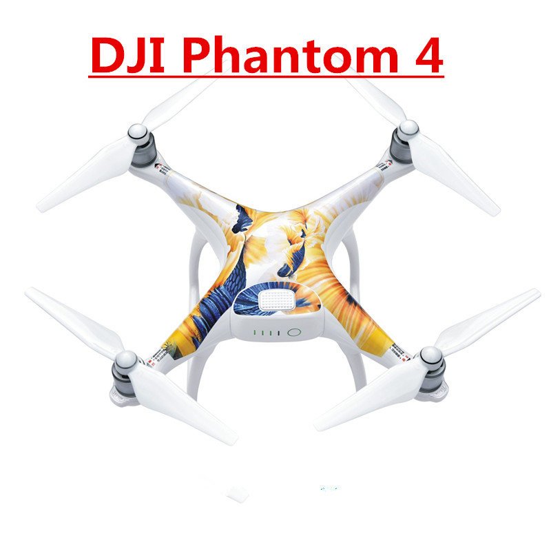 HOT 5lots DJI Phantom4 Phantom 4 Cover Shell Graphic Wrap Skin skins decals Stickers PVC Waterproof Stickers RC Part Accessories