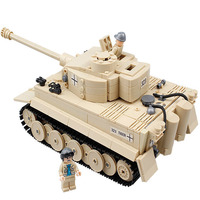 995pcs Military Building Blocks Heavy 323 Tank Model Soldiers Guns Compatible legoed weapon Enlighten Bricks Toys for children