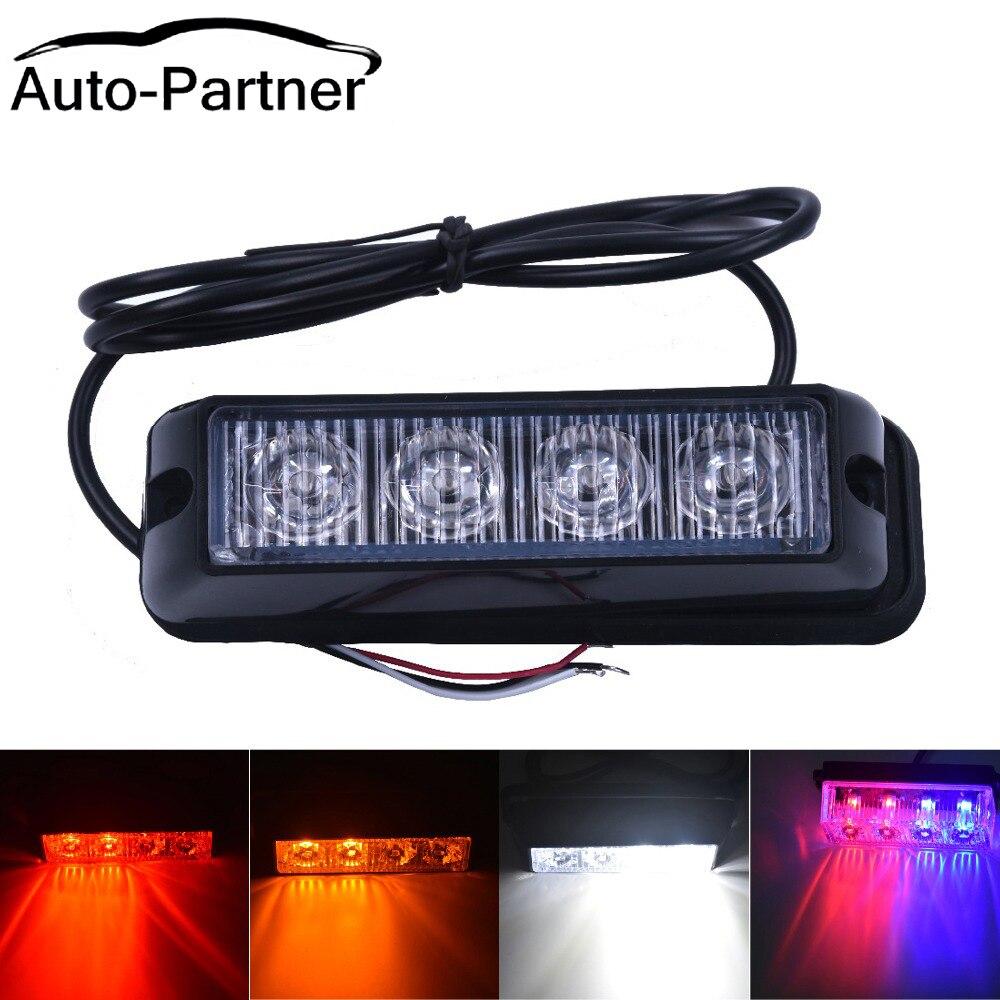 4 LED Car Flash Truck Emergency Light Bar Hazard Strobe Warning Lamp Candid