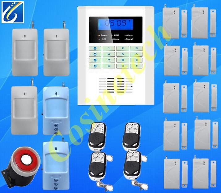 Ventes chaudes maison intelligente dispositif de sécurité SMS GSM850/900/1800/1900 Mhz voix, SMS, Auto-cadran anti-vol d'alarme à domicile PSTN GSM système d'alarme