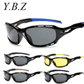 YBZ New Fashion Sunglasses Men Driving Outdoor Sports Night Vision Vintage Eyewear Crocodile Gafas Oculos De Sol Masculino 1004