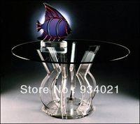 Akrilik Kahve kristal Masa mobilya yemek masası/Açık güçlü Taban kürsü minber podyum