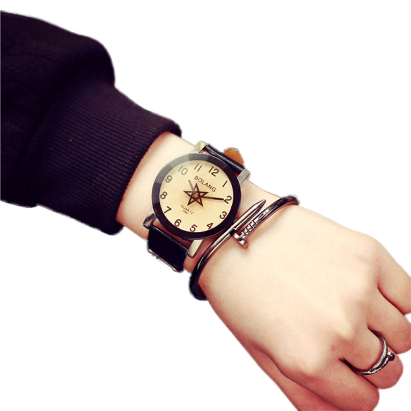 Excellent Quality New Quartz Watches Women Dress Watches Leather Dress Men Wristwatches Casual Watches Relogio Feminino Clock