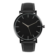 Unisexové hodinky s koženým páskem