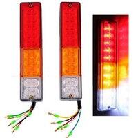 Por Sua Vez LEVOU Indiactor 12 V/24 V ATV Reboque Do Caminhão Lâmpada Led 2x LED Parar Traseira Da Cauda Do Freio Reverso luz