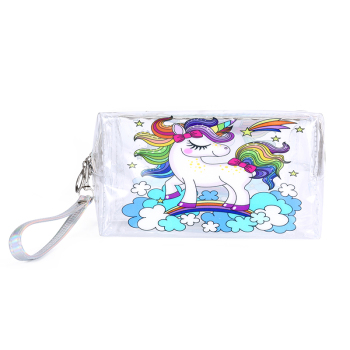 Cute Unicorn Transparent Cosmetic Bag