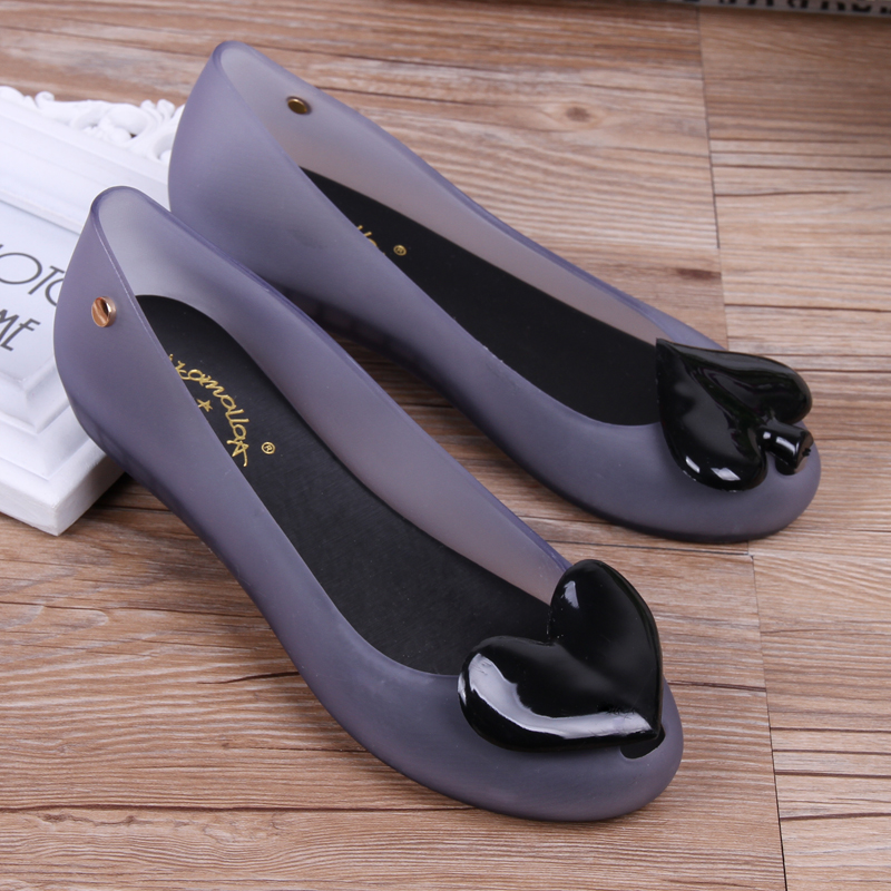 SLHJC Jelly Shoes Summer Autumn Slip Resistance Mother Lady Rain Shoes Women Beach Sand Casual Holiday Flat Heel Flats