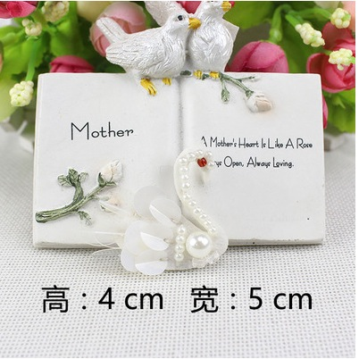 Fashion Style Free Shipping 15pcs/lot 4*5cm Sequined Beaded White Swan Patch For Clothing Diy Accessories Collar Patch Decorative T-shirt315 Lovely Luster Home & Garden