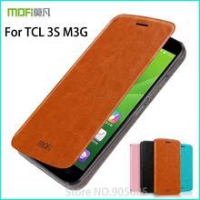 Для TCL 3 S M3G ca s e Высокое качество флип PU кожа ca s e для TCL 3 S M3G кожаный бумажник Стенд ca s e для TCL 3 S M3G