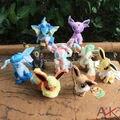 9 pçs/set Monte de Pokemon brinquedos de pelúcia tamanho pequeno Eeveelution boneca de pelúcia Da Marca New