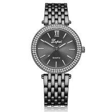 Часы Для женщин известная марка кварцевые наручные часы 2017 Женский Часы Нержавеющаясталь группа Роскошные Для женщин женские часы relogio feminino