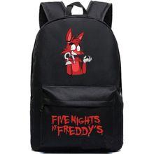 Пять Ночей В фредди Рюкзак FNAF Foxy Холст Студенческая Школа Сумка Модный  Путешествовать  Спорт  Уличный  Кемпинг  Модный  Путешествовать  Спорт  Уличный  Кемпинг