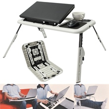 Multi-function Folding Laptop Desk Table Laptop Stand Holder With 2 USB Cooling Fans Mouse Pad Laptop Table Laptodesk For Bed