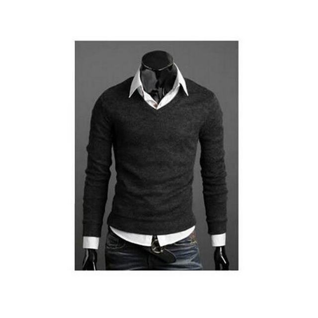Christmas Jumper Casual Knitted V Neck Pullover Sweaters  5