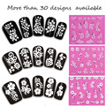 Atacado 150 designs Francês estilo beleza naill 3d etiqueta, Arte Do Prego Etiqueta Do Prego Manicure Mix design Pregue Decal nails ferramentas