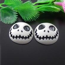 10PCS/lot Resin Funny Skull Oval Embellishment Flat back Cabochon Resin Crafts Mold Setting 24*22mm