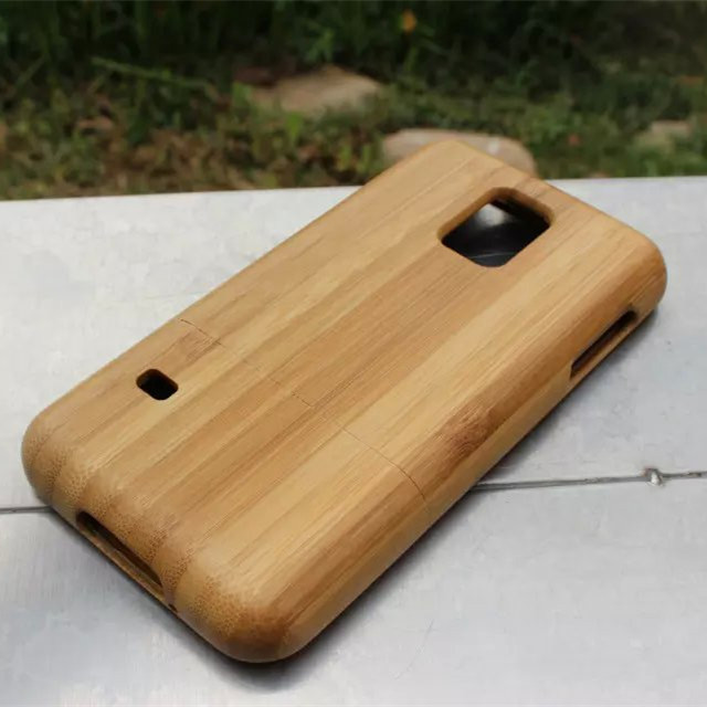 Personality Removable Wood Bamboo Case for Samsung Galaxy S5 mini G800 Novelty Phone Case Cover for