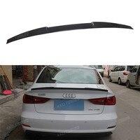 For Audi A3 S3 Spoiler A3 8V Carbon Fiber Rear Spoiler Trunk Wing Glass Black Finish