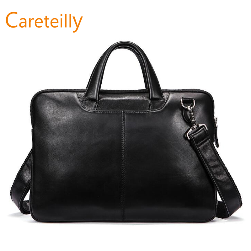 Men's Genuine Vintage Leather Messenger Shoulder Laptop Tote Bag Business Satchel Briefcase image