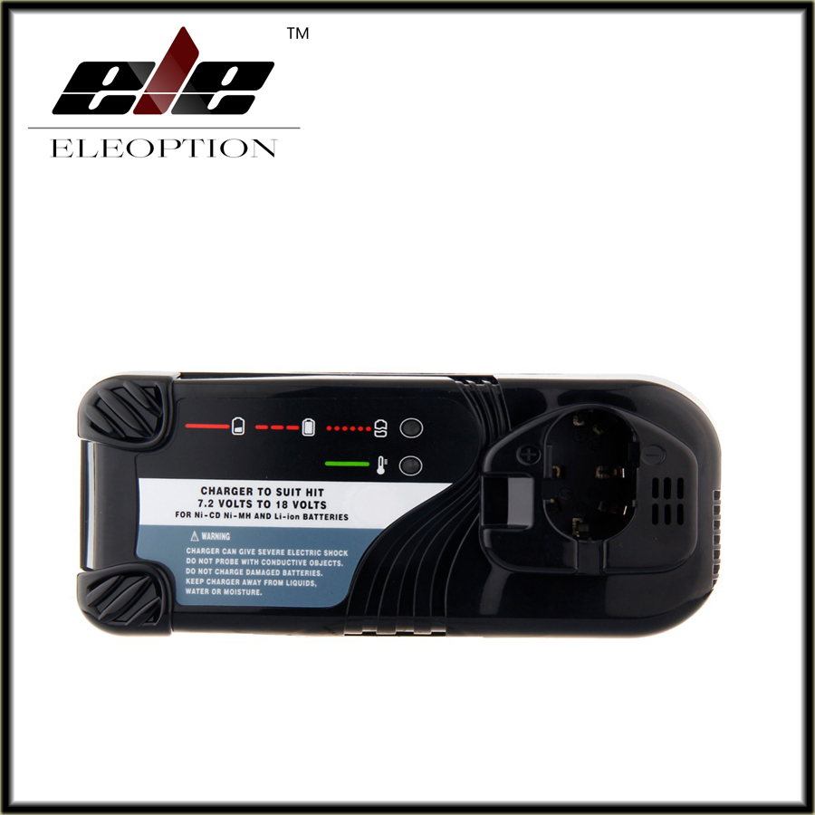 Eleoption Universal Cordless Drill Battery Charger For Hitachi NI-CD NI-MH Li-lon 7.2V -18V Battery UC14YFA UC18YG UC18YRL bcl1415 14 4v ni cd ni mh battery for hitachi bcl1415 18v ni cd ni mh battery