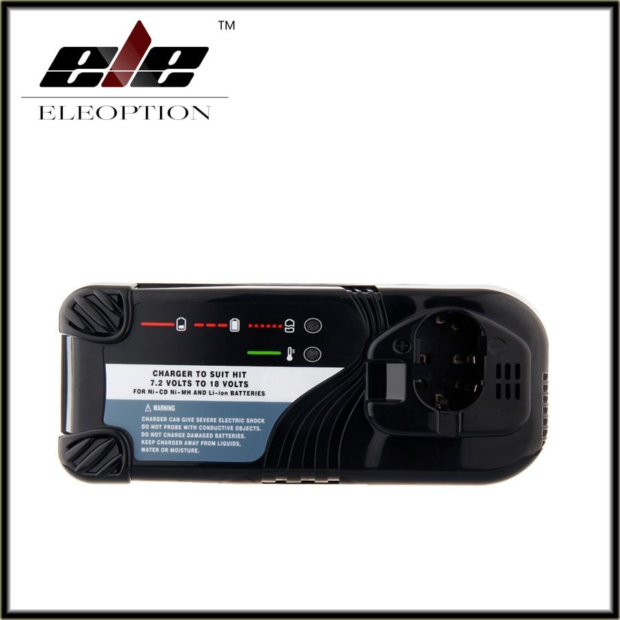 Eleoption Universal Cordless Drill Battery Charger For Hitachi NI-CD NI-MH Li-lon 7.2V -18V Battery UC14YFA UC18YG UC18YRL hitachi uc18yrl