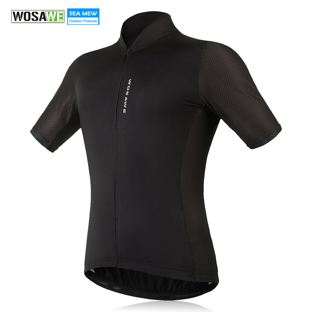 WOSAWE New Men s Cycling Jersey Comfortable Bike Bicycle Shirt Black White  Quick dry Sports Wear Short Sleeve Cycling Clothing 2acc0c541