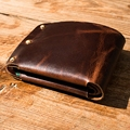 Totally Hand-made original Vintage Genuine  Leather Men Wallets Small Short Designer Male Purse Billfold Wholesales