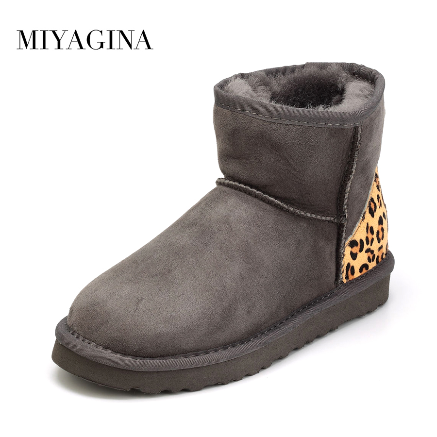Top Quality 2017 New Brand Winter Shoes 100% Genuine Sheepskin Natural Fur Snow Boots Botas Mujer Flat With Wool Women Boots free shipping top fashion new mujer botas 2016 winter women boots 100